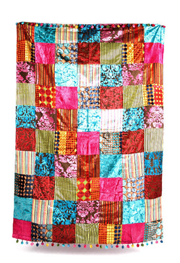 Velvet Patchwork Throw