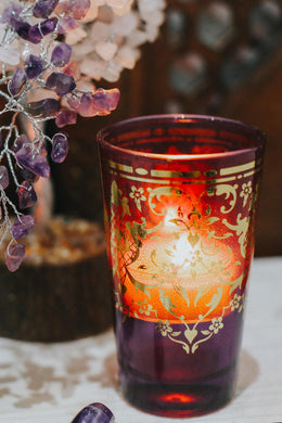 Purple Moroccan Tea Glass