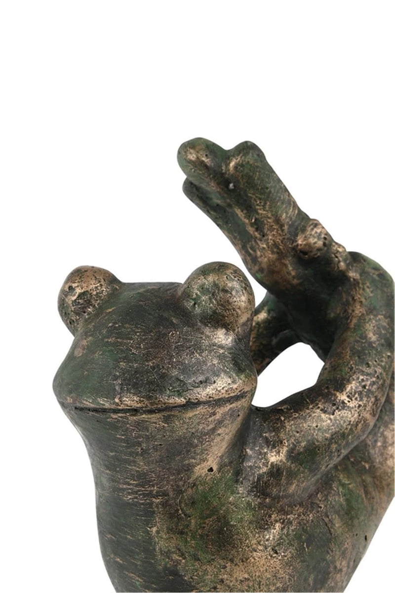 Ceramic Yoga Dancer Frog