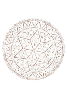 Carved Star Round Wall Art