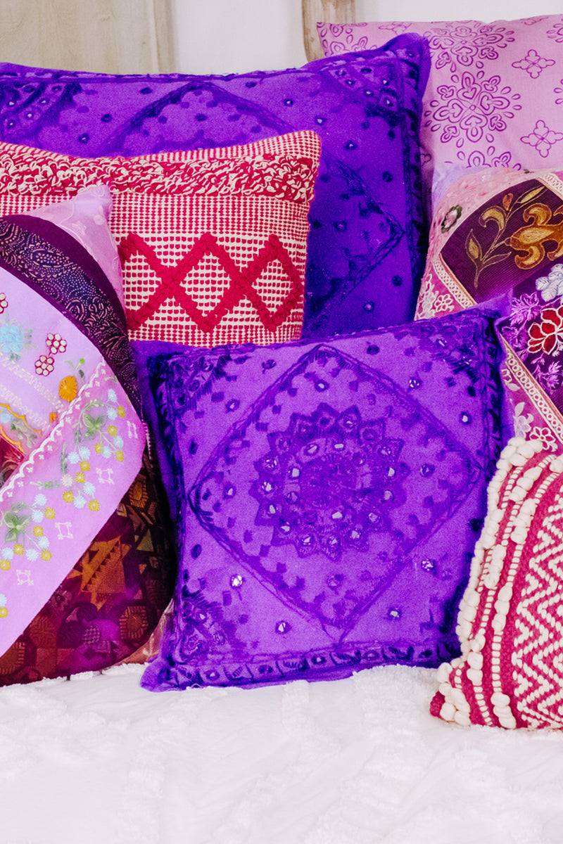 Small Purple Pakka Cushion