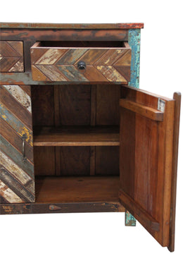 Recycled Timber Chevron Sideboard