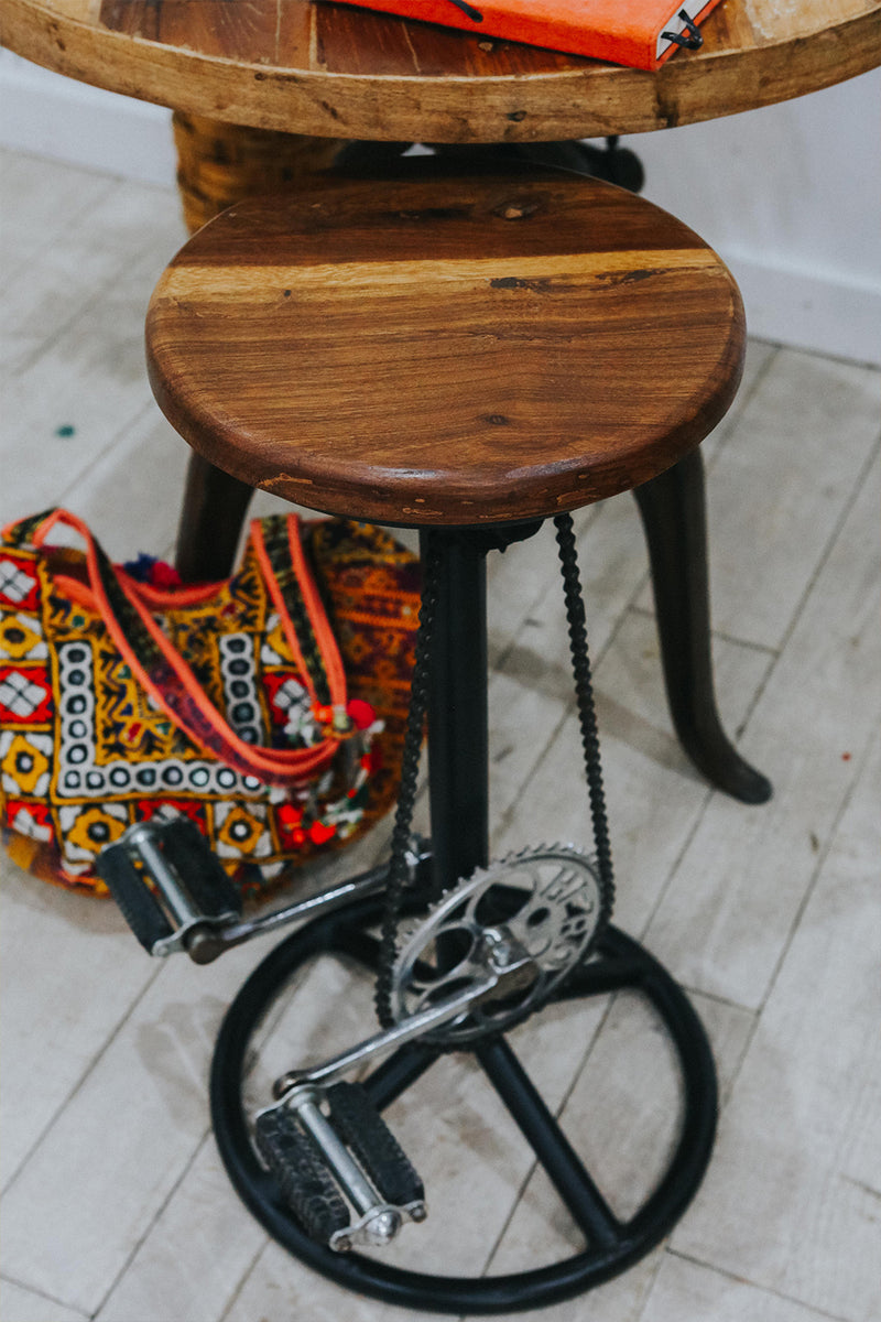 Bicycle Pedal Barstool