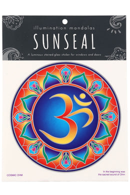 Cosmic Om Sunseal Window Sticker