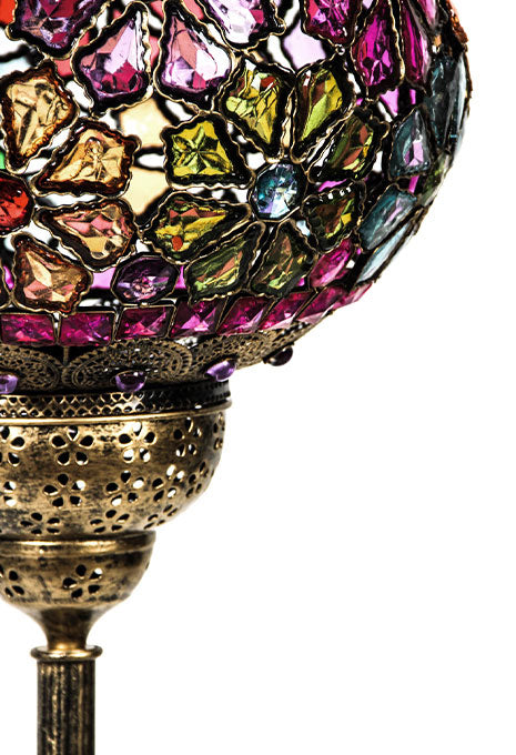 Flower Beaded Floor Lamp