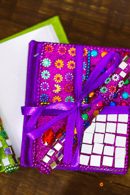 Assorted Glitter Notebook with Pen