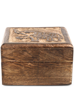 Square Wooden Elephant Box