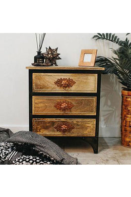 Industrial Copper Bedside Cabinet