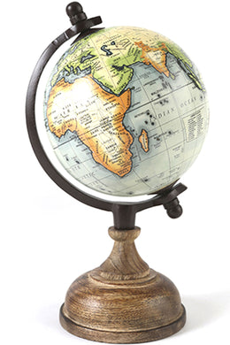 Vintage World Globe - Sage Green