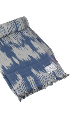 Navy Ikat Throw