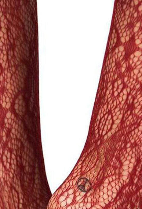 Red Floral Stockings