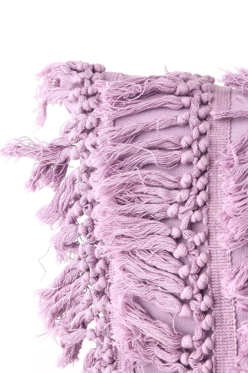 Purple Tassel Cushion