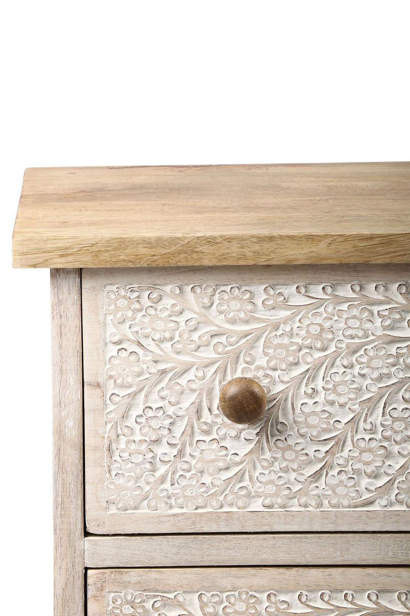 Carved Kashmiri Set of 3 Drawers