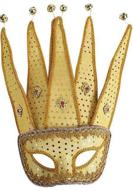Gold Jester Mask