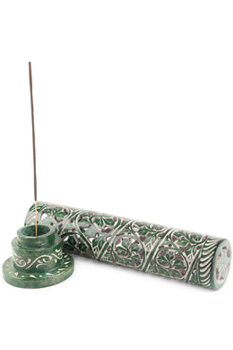 Green Leaves Incense Holder
