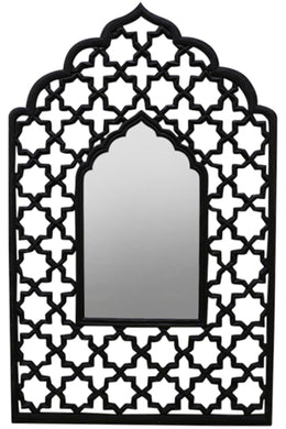 Black Jali Mehrab Mirror