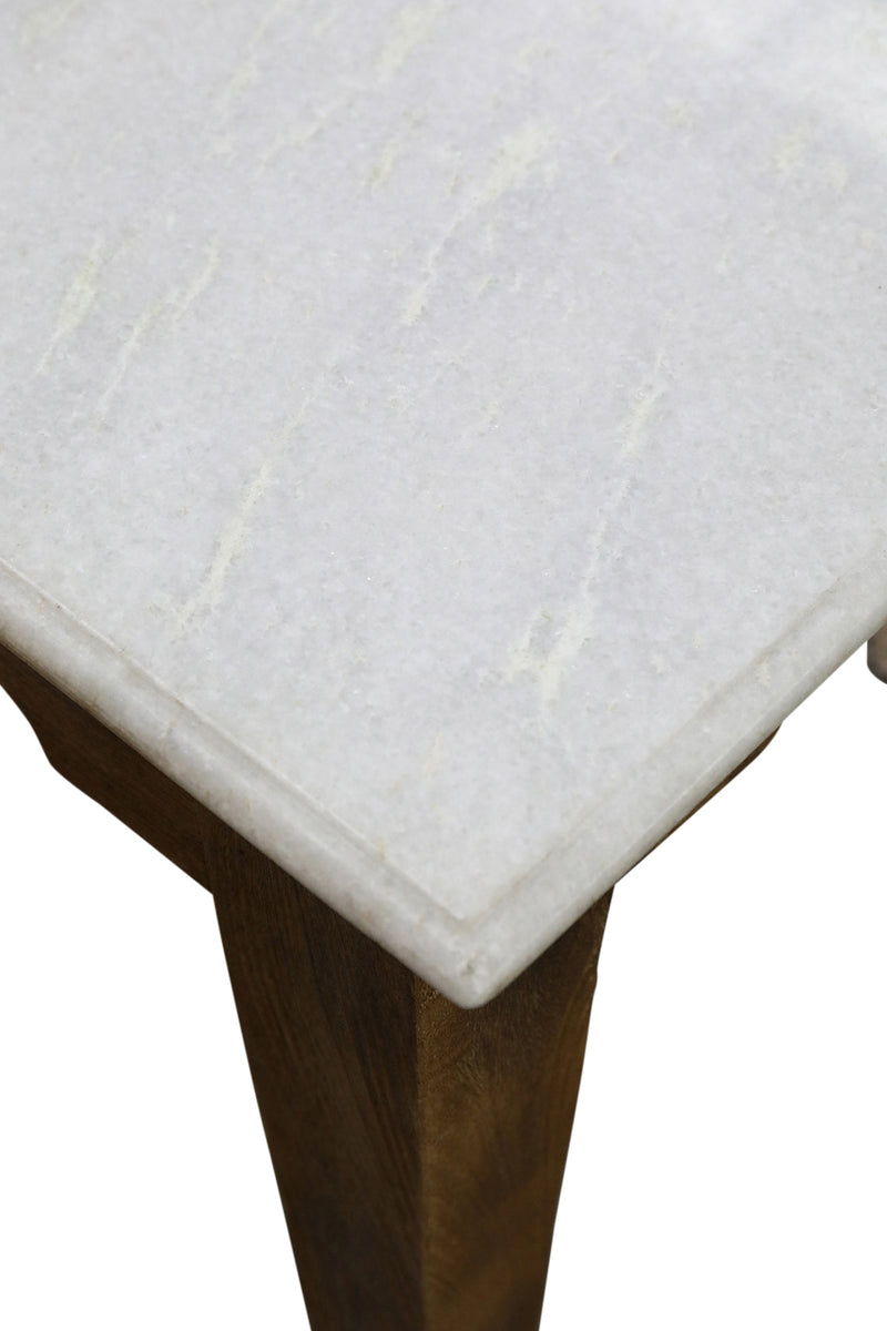 Marble on Wood Dining Table