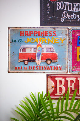 Happiness Kombi Van Wall Hanging