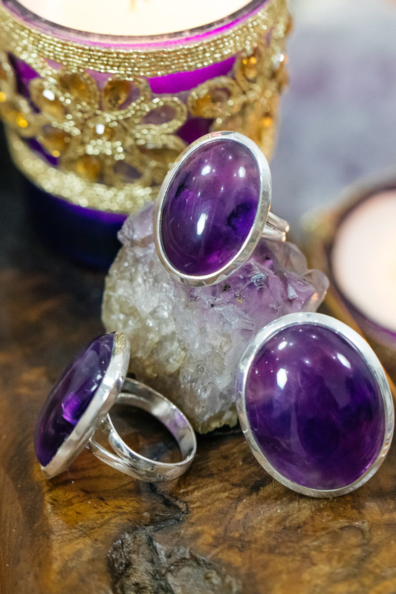 Assorted Shape Gemstone Silver Ring