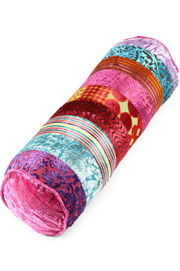 Multi Patchwork Bolster Cushion
