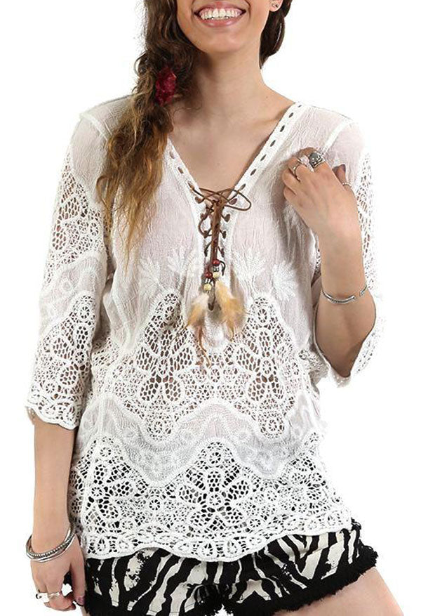 Lace Feather Top