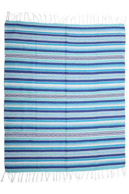 Blue/White Mexican Throw