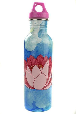 Lotus Print Stainless Steel Water Bottle