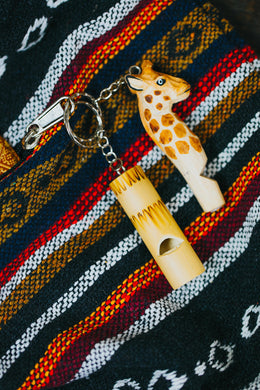 Bamboo Whistle Keyring