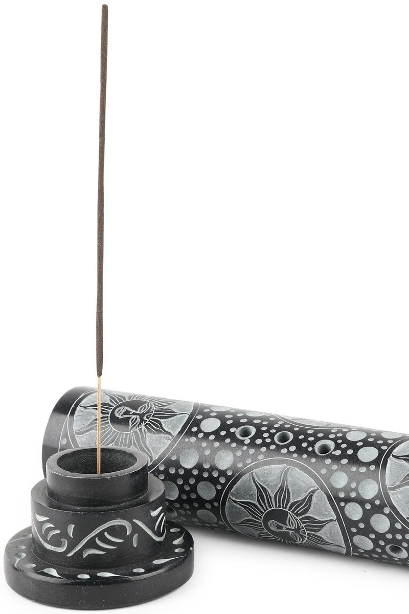 Black Stone Sun Incense Pipe