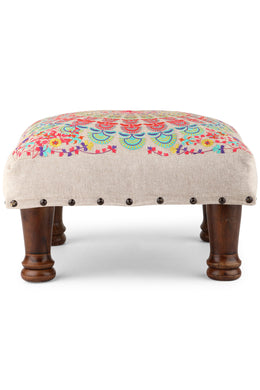 Multicolour Embroidered Mandala Stool