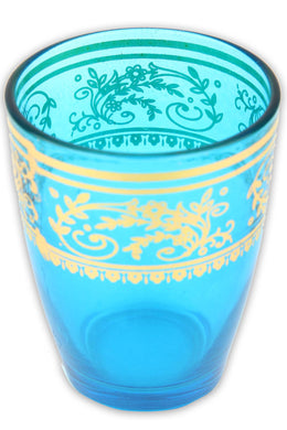 Aqua Moroccan Tea Glass