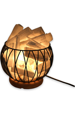 Selenite Cage Table Lamp
