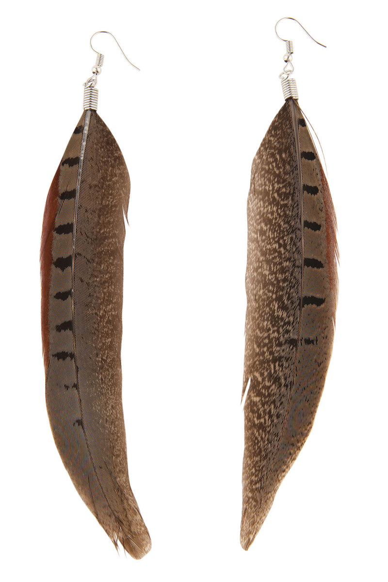 Long Tail Feather Earrings
