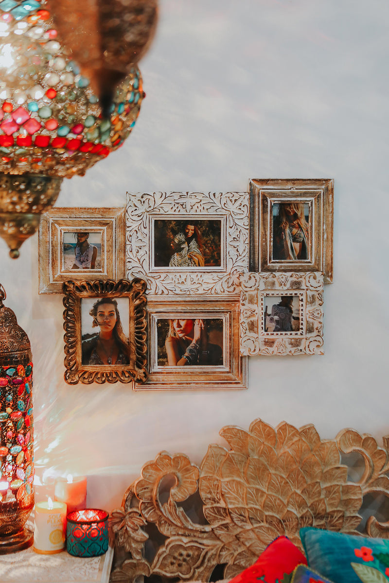Carved Timber Photo Frame Collage