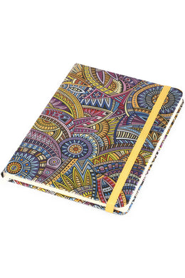 Round Paisley Foil Notebook