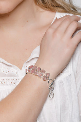 Double Rose Quartz Bracelet