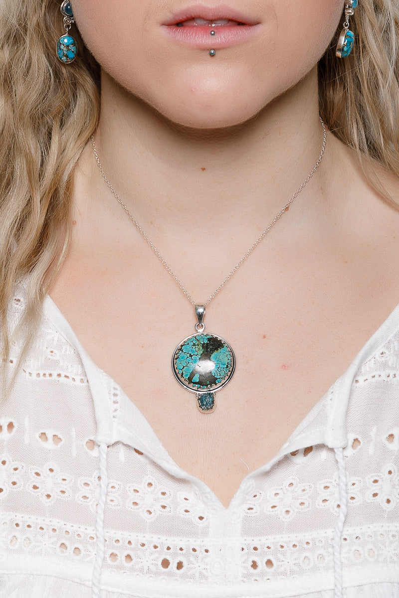 Turquoise Crown Pendant