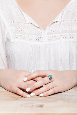 Turquoise Curve Ring