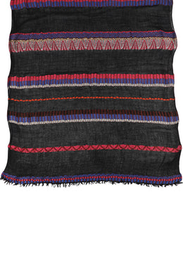 Black Aztec Stripe Scarf