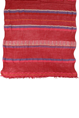 Red Aztec Stripe Scarf