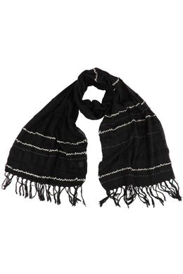 Charcoal Stripe Scarf
