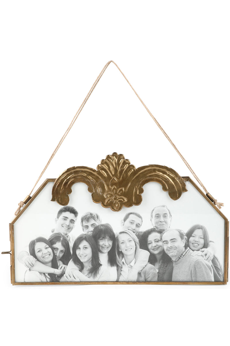 Brass Antique Hanging Photo Frame