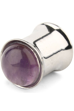 Amethyst Surgical Steel Ear Stretcher