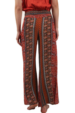 Floral Stripe Wide Leg Pants