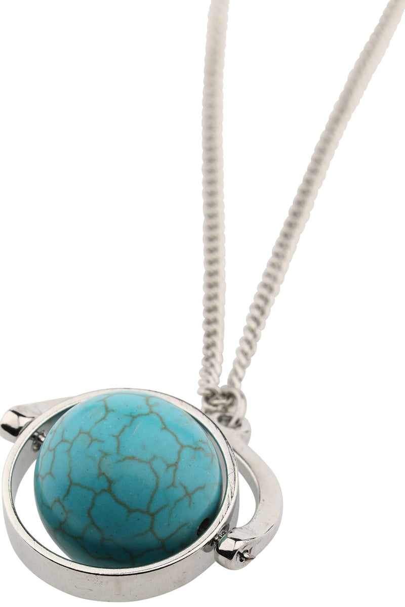 Silver Spinning Turquoise Necklace