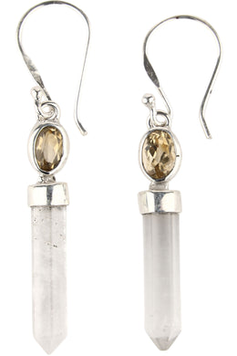 Assorted Crystal Shard Gemstone Droplet Earrings