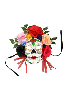 Day of The Dead Skull Mask & Garland