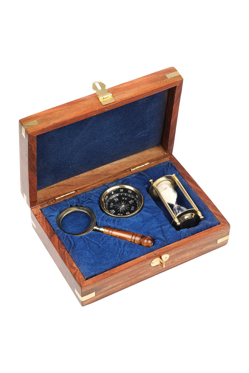 Compass, Hourglass & Magnifier Giftbox