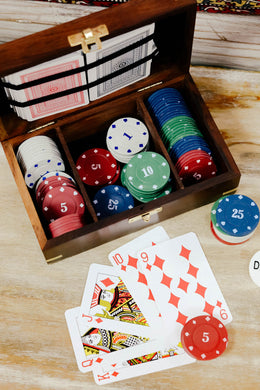 100 Chip Poker Set in Wooden Box