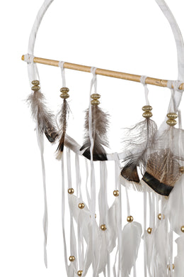 White Turkey Feather Dreamcatcher